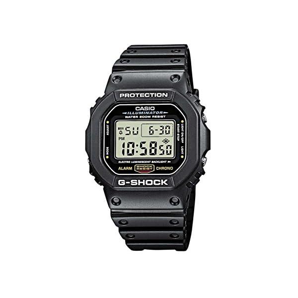 5132AELj1CL. SS600  - Casio Men's G-Shock Quartz Watch with Resin Strap, Black, 20 (Model: DW5600E-1V)