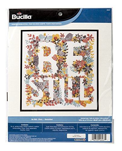 Bucilla Counted Cross Stitch Kit, 10.5 by 11.5-Inch, 46467 Be Still