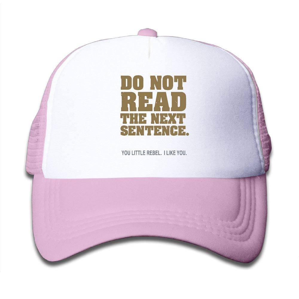 Kid's Boys Girls Do Not Read The Next Sentence Youth Mesh Baseball Cap Summer Adjustable Trucker Hat by NO4LRM (Image #1)