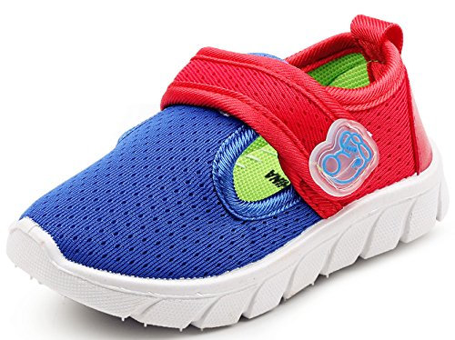 b4387539c74903 DADAWEN Baby s Boy s Girl s Breathable Strap Light Weight Casual Sneakers  Running Shoes