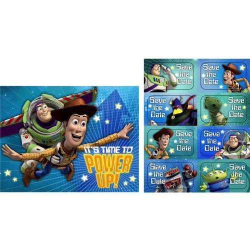 (Toy Story 'Game Time' Invitations w/ Envelopes (8ct))