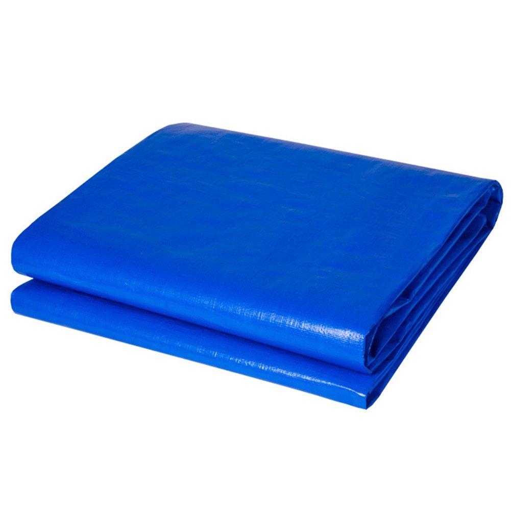 AJZGF Im Freien Plane, im Freien Wasserdichte Doppelseitige feuchtigkeitsdichte Fracht staubdicht LKW-Plane Hochtemperatur-Anti-Aging Zelt Tuch, blau (Farbe   Blau, größe   5x5m)