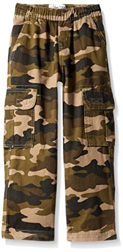 The Children's Place Slim Boys Pull-On Cargo Pant, Olive Camo, 5S