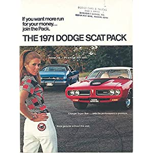1971 Dodge Scat Pack Challenger TA Charger Brochure