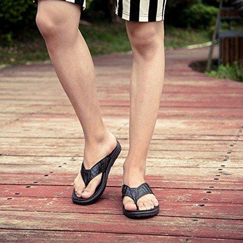 da Marrone Nero ZHANGRONG Marrone Marrone Colore EU40 CN41 Pantofole Blu uomo UK7 dimensioni Sandalo Grigio EqnzgwzIH