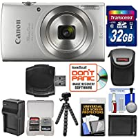 Canon PowerShot Elph 180 Digital Camera (Silver) with 32GB Card + Battery & Charger + Flex Tripod + HDMI Cable + Kit Noticeable Review Image