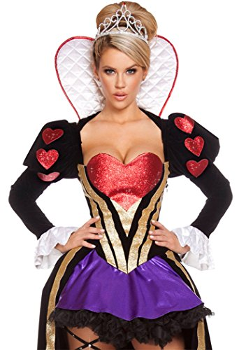 Heartless Queen Costumes - Black Friday FQHOME Womens Sexy Sultry Heartless Queen Costume One Size
