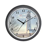 CafePress – Lighthouse_Clock – Unique Decorative 10″ Wall Clock