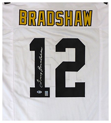 Pittsburgh Steelers Terry Bradshaw Signed Autograph White Jersey - Beckett (Terry Bradshaw Signed Jersey)