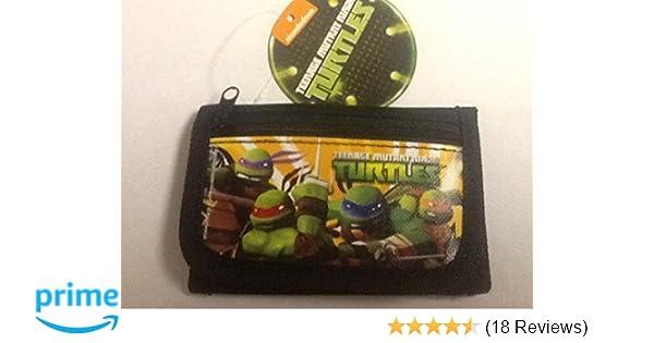 Brand New 2014 Teenage Mutant Ninja Turtles Tri Fold Wallet (Black)