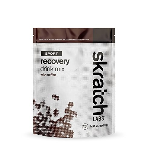 Skratch Labs: NEW Sport Recovery Drink Mix with Coffee, 12 serving resealable bag (with complete milk protein of casein and whey and probiotics)