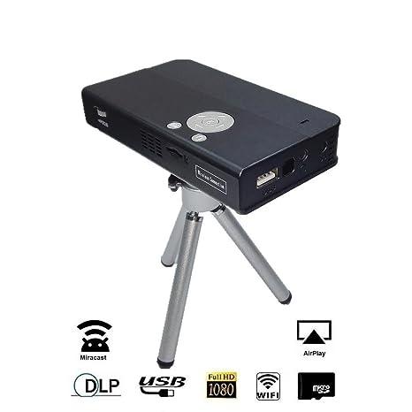 Mini proyector,Mokiro Proyector DLP, batería portátil Banco de ...