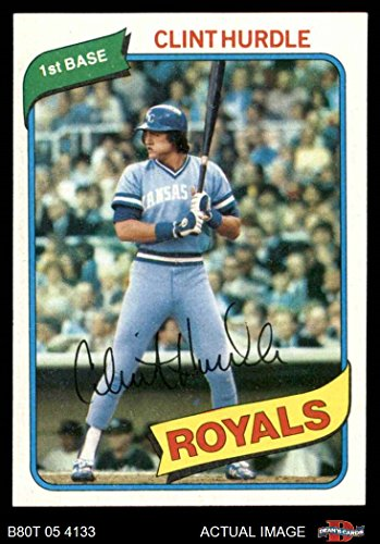 - 1980 Topps # 525 Clint Hurdle Kansas City Royals (Baseball Card) Dean's Cards 8 - NM/MT Royals