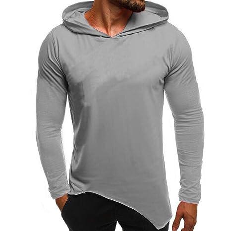 Hombre sudadera hoodie casual invierno otoño,Sonnena sudadera con capucha manga larga guapa hombre color