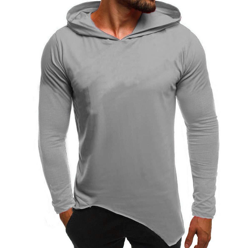 Apparel Sport Outwear,Men Slim Fit Hoodie Long Sleeve Muscle Tee T-Shirt Thin Casual Tops Blouse for Men Teen Boys Ennglun ENN090649