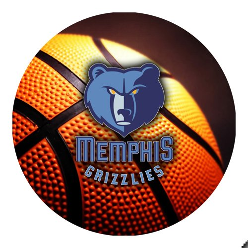 Grizzlies Basketball Round THICK Mousepad Mouse Pad Great Gift Idea Memphis [Office Product]