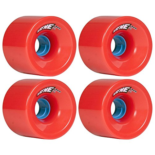 気分が悪い飢え請求書Rayne Greed Series Red 70mm 77A Blue Core Longboard Wheels by Rayne
