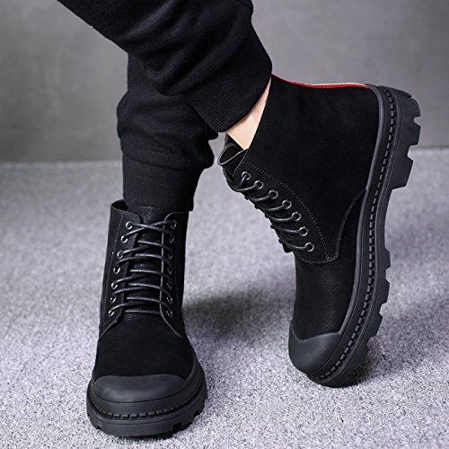 HL-PYL - Die neuen Stiefel für Martin High High High Fashion Casual Stiefel für koreanische Runde Stiefel 43 Schwarz edba65