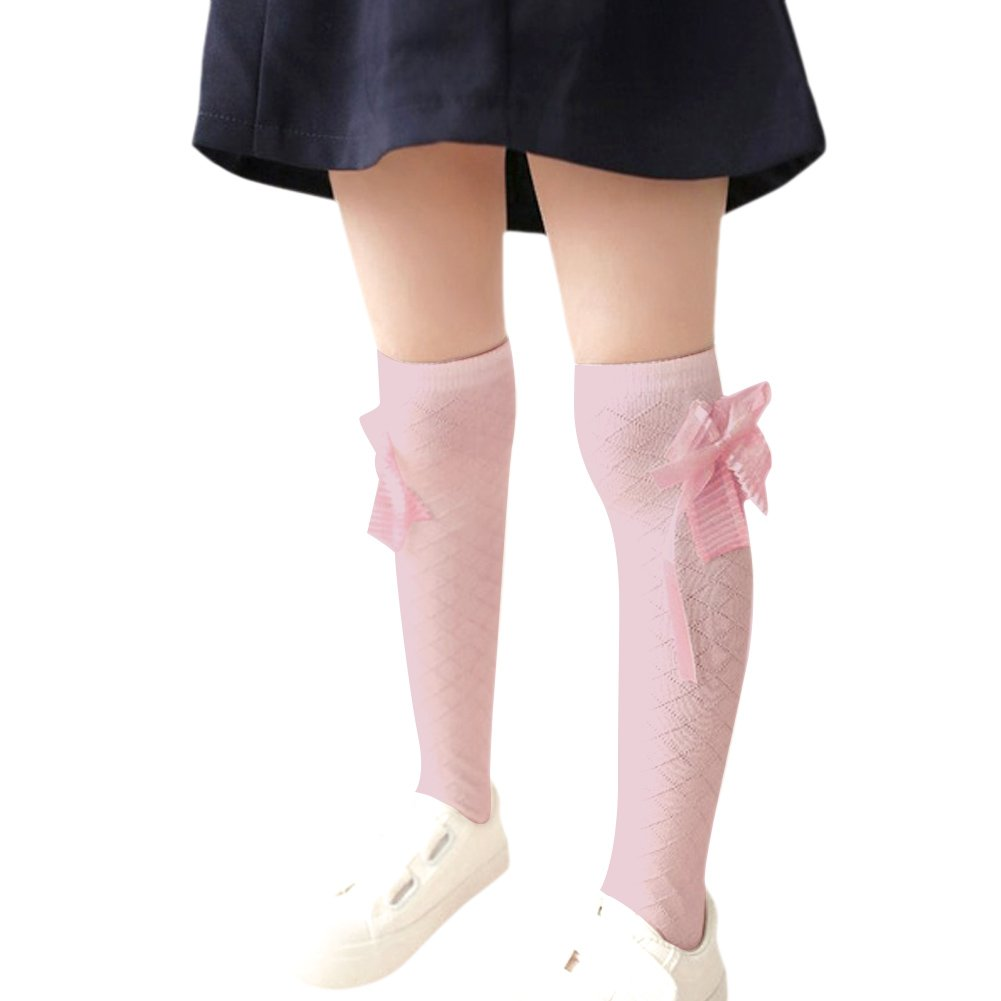 CHIC-CHIC Toddler Kids Girls Princess Bow-knot Knee High School Socks Tights Warm Stockings CH4910