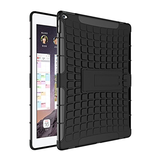iPad Pro Funda,COOLKE Duro resistente Choque Heavy Duty Case Hybrid Outdoor Cover case Bumper protección Funda Para Apple iPad Pro (12.9 inches) - naranja negro