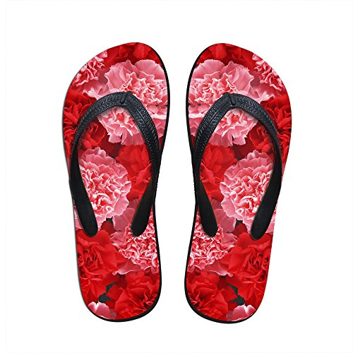 Para U Designs Red Flowers Print Mujeres Niñas Casual Sala De Estar Flip Flops Us 9