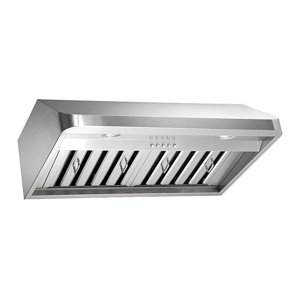 Amazon.com: KOBE Range Hoods CHX9130SQB-1 Brillia Under Cabinet Range Hood  680 CFM Stainless Steel with LED Lights, 30-Inch: Appliances