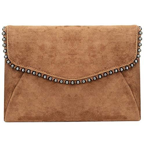 Wedding Purse Flannelette Khaki Handbag EROUGE Evening Bridal Bag Evening Clutch Women Shoulder Bag Deep Designer for IqgZqvwWO