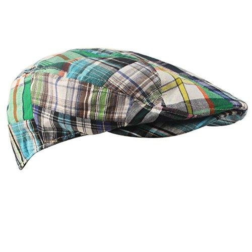 391424f27c4fd Summer Preppy Tartan Driving Hat. Review - Men s Summer Preppy Tartan Plaid  Front Snap Flat Golf Ivy Driving Cap Hat
