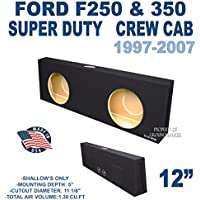 Ford F250 Crew Cab 12 Dual Slim Mount Subwoofer box