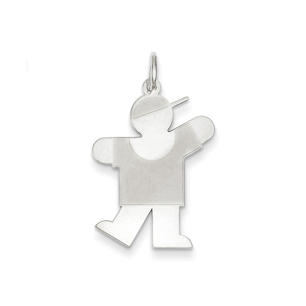 LavaFashion Sterling Silver Kiss Silver Small Charm Necklace 18