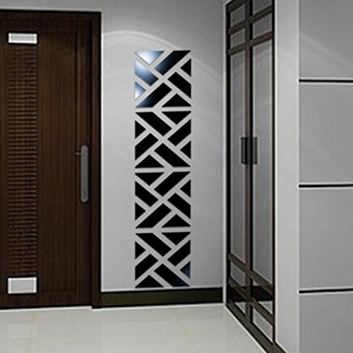 Wall Sticker, Hatop 32Pcs 3D Mirror Acrylic Wall Sticker DIY Art Vinyl Decal Home Decor (Black)  sweet home 3d mirror | Sweet home 3D – Glass wall 5132GiihdYL