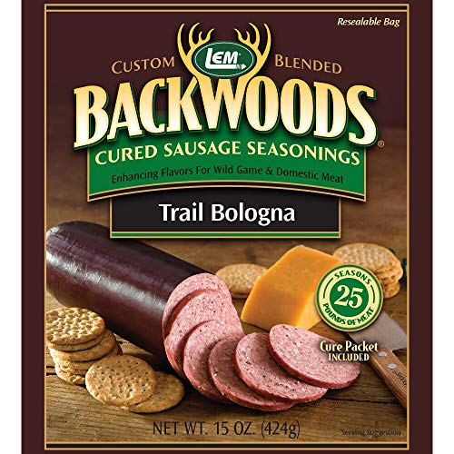 Sausage Bologna - LEM Backwoods Cured Sausage Seasoning with Cure Packet
