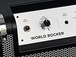 ION Audio World Rocker | Portable Bluetooth Speaker with 75-Hour Battery, Mic, and Wheels & Handle for Transport