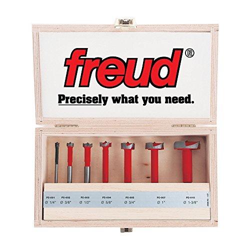 (Freud Seven Piece Carbide Forstner Drill Bit Set (1/4