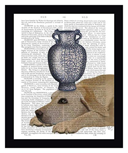 Labrador with Blue Vase by Fab Funky - 16