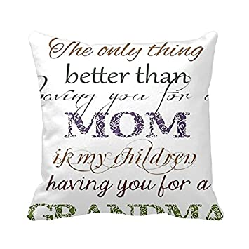 I Love You Grandma Quotes Unique Amazon Square Pillowcases Love You Grandma Quotes Pillow Cover