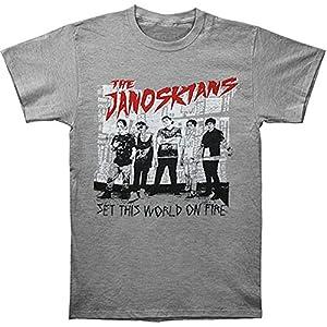 Janoskians Men's Set The World Slim Fit T-shirt Grey