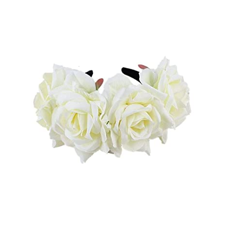 Qqzmd Yam Diadema Flower Garland - Floral Crown Natural para ...