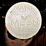 VTH Global I Love You to The Moon and Back 3D Printed Moon Lamp Night Light for Mom Grandma Nana Auntie from Daughter Son Husband (for Nana)