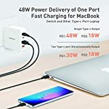 MOMAX 66W 4-Port USB C QC3.0 Wall Charger,Dual PD