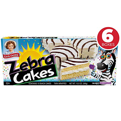 Little Debbie Zebra Cakes, Contains 10 Snack Cakes (Twin Wrapped) - 6 Pack