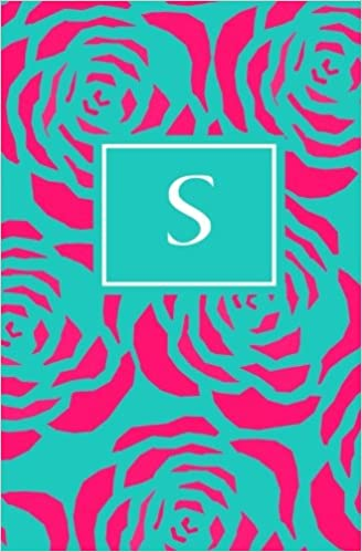 S: Personalized Initial Journal/Notebook/Diary: Volume 19 (Pink Floral on Teal Monogram Journals)