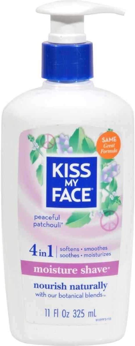 Kiss My Face Vitamin Enriched Moisture Shave with Essential Oils, Patchouli - 11 oz - 2 pk