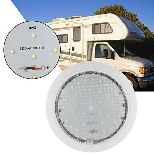 Transport-Accessories - 12V 9W for Caravan/Motorhome/Trailer/Boat Surface Ceiling Light 42pc 2835 SMD 6500K Cool White LED Fixture Mount Interior Lights (New Vw T5 Camper Vans For Sale)