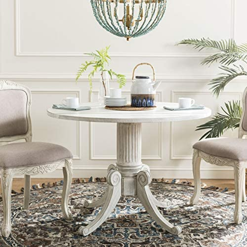 Safavieh Home Collection Forest Drop Leaf Dining Table Antique White