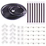 5Pin LED Strip Connector Kit - iCreating 10mm RGBW LED Connector Kit includes 32.8FT RGB Extension Cable, 10x LED Strip Jumper, 10x L Shape Connectors, 10x Gapless Connectors, 20x LED Strip Clips