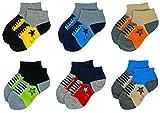 Cheap Liwely 6 Pairs Baby Boys Socks, Ankle Socks for 9-24 Months Infants, Sneaker Socks