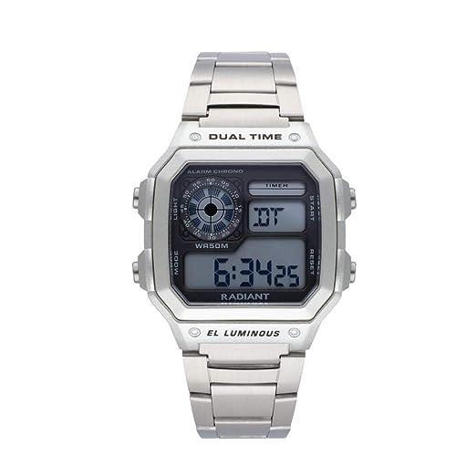 RADIANT Reloj para Hombre Digital Cuarzo con Correa de Acero Inoxidable RA505201: Amazon.es: Relojes