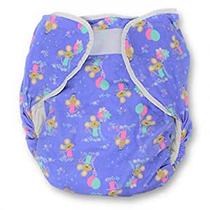 Rearz - Bulky Fitted Nighttime Cloth Diaper (Purple - Mice) (Large/X-Large)