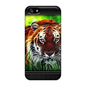 For Iphone 5/5s Fashion Design Tiger Case-vyx878GBxv